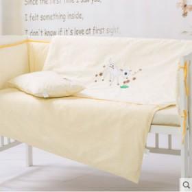 贝贝怡婴儿床围床单四件套床上用品套件宝宝纯棉枕套被