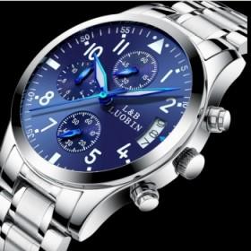 罗宾 手表男 男士手表运动石英表防水时尚潮流夜光