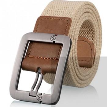 男士女士帆布腰带休闲商务 牛仔裤针扣皮带