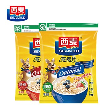 西麦纯燕麦片700g即食快熟2袋装