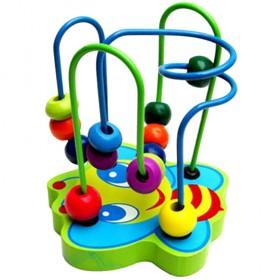 【包邮】幼儿益智木制迷你小绕珠动物小绕珠 锻炼手