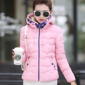 新款冬季女装韩版修身加厚羽绒棉服女