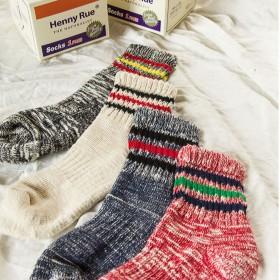 39款任选3双  日系加厚保暖冬季运动女袜棉袜