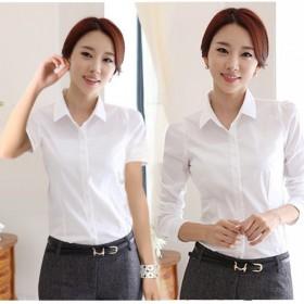 长袖韩版百搭白色衬衣修身冬季衫加厚保暖衫