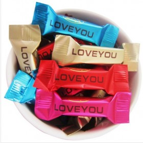 纯黑牛奶巧克力500g约80散装结婚喜糖果零食