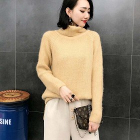 新款女装韩版套头圆领打底衫宽松毛衣针织衫