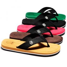 韩版夏季小贝同款男拖鞋简约黑色潮流沙滩鞋人字拖