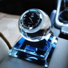 创意汽车香水车内饰品摆件汽车摆件钟表车内车用车载香
