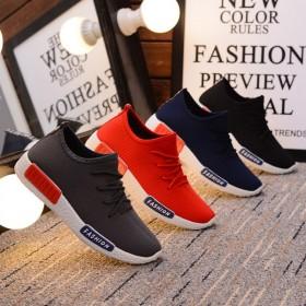 男女情侣鞋 运动鞋 休闲鞋 韩版潮流系带低帮鞋