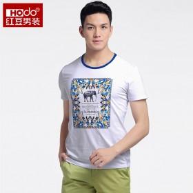 红豆一线品牌男士短袖T恤夏季新款印花体恤/265