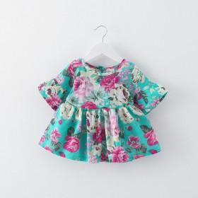 2018春秋童装长袖薄款女童连衣裙小童0-3岁女婴