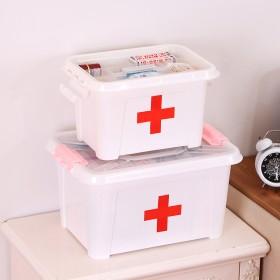 家庭急救箱药品收纳箱塑料盒化妆盒手提箱旅游箱保健箱