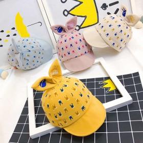 宝宝帽子春夏薄款鸭舌帽婴儿软檐遮阳帽男女童1-3岁