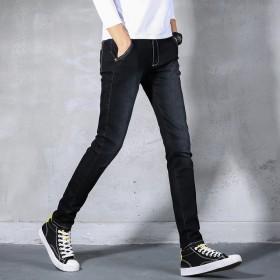 男士牛仔裤韩版弹力小脚裤学生春款潮流铅笔裤男显瘦