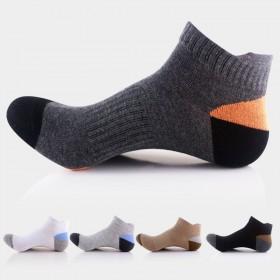5双男士新款棉袜子 鸭舌跟运动袜 透气防臭船袜