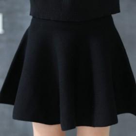 大摆裙 针织显瘦 短裙 半身裙