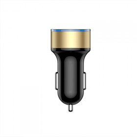 智能车载充电器汽车点烟器插头一拖二usb充电器