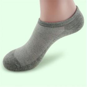 6双纯棉透气网眼船袜夏季薄款男袜全棉吸汗防臭短袜