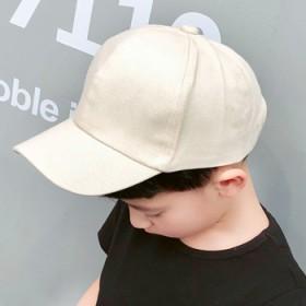儿童鸭舌帽棒球帽男童女童帽韩版简约遮阳帽潮