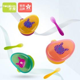 香港禾果宝宝辅食碗便携外出婴儿卡通餐具套装儿童碗