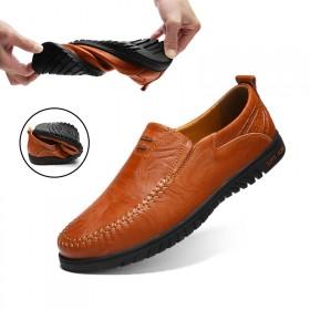 豆豆鞋真皮休閑鞋韓版潮流低幫套腳懶人鞋駕車四季鞋男