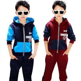 2018男童装儿童春装中大童休闲运动两件套装