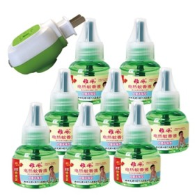 雅风电热蚊香液孕妇婴儿童驱蚊液无味防蚊水8液送1器