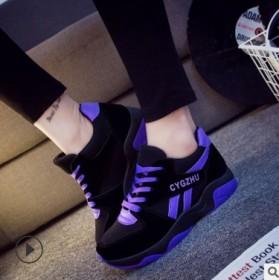 新款拼色运动鞋休闲鞋女学生板鞋厚底