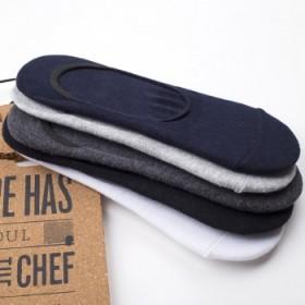 5双装纯棉夏季薄款船袜男士浅口隐形