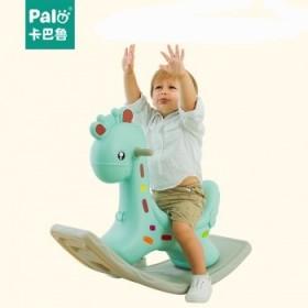 音乐摇摇马大号加厚儿童玩具1-2周岁小木马车宝宝摇