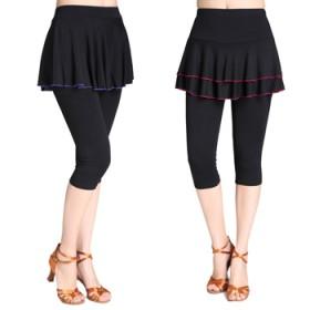 广场舞服装新款莫代尔七分裙裤女成人跳舞裤子舞蹈裤