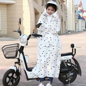 夏季电瓶车防晒衣女纯棉防晒服摩托车长袖披肩遮阳衣