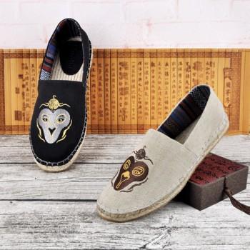 渔夫鞋春情侣鞋麻布鞋复古懒人麻底鞋休闲鞋潮中国风