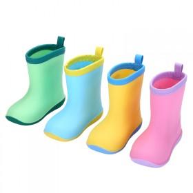 日本儿童雨鞋男女童防滑底宝宝雨靴幼儿小孩水鞋四季通