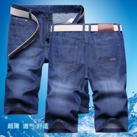 夏季男士薄款牛仔短裤