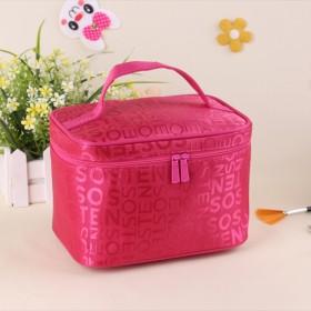 韩国字母化妆包女小号大容量收纳包手拿包防水包