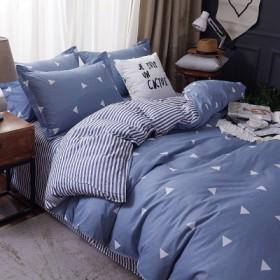 水洗棉四件套床上用品床单被套单人被子宿舍三件套多色
