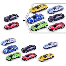 6只合金车小跑车火辣合金玩具车仿真汽车模型儿童玩具