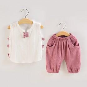 男童装女宝宝夏装婴儿小孩短袖2套装