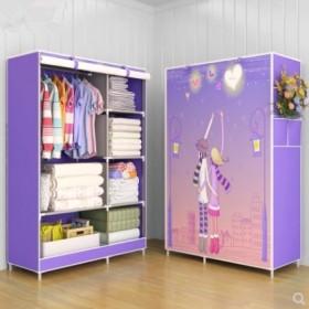 简易衣柜布衣柜储物柜衣架晾衣架收纳柜