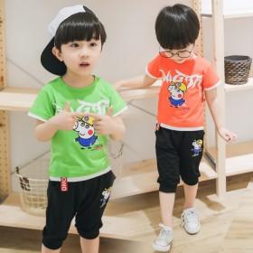 套装时尚0潮衣2男童洋气童装