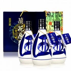 山西白酒53度500ml3瓶清香型纯粮食原浆礼盒装