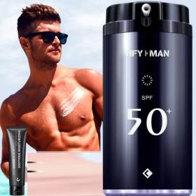 男士防晒霜户外专用脸部面部全身体防紫外线辐射控油防