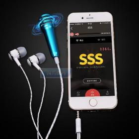 手机麦克风 带耳机迷你录音小话筒金属电容麦唱吧K歌
