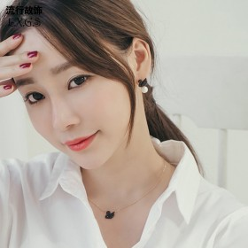 黑天鹅项链女韩国时尚锁骨链