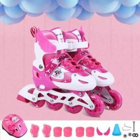 溜冰鞋儿童套装男童女童成人直排轮旱冰鞋轮滑鞋滑冰鞋