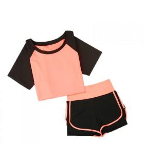 瑜伽服套装女跑步衣服户外运动两件套上衣加高腰裤子
