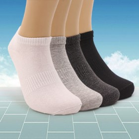 男士运动袜夏季薄款短袜纯棉船袜吸汗防臭男袜子