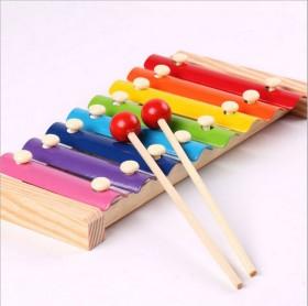 儿童八音手敲琴 宝宝益智乐器玩具
