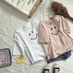 纯色短袖T恤女轻奢简约百搭宽松版